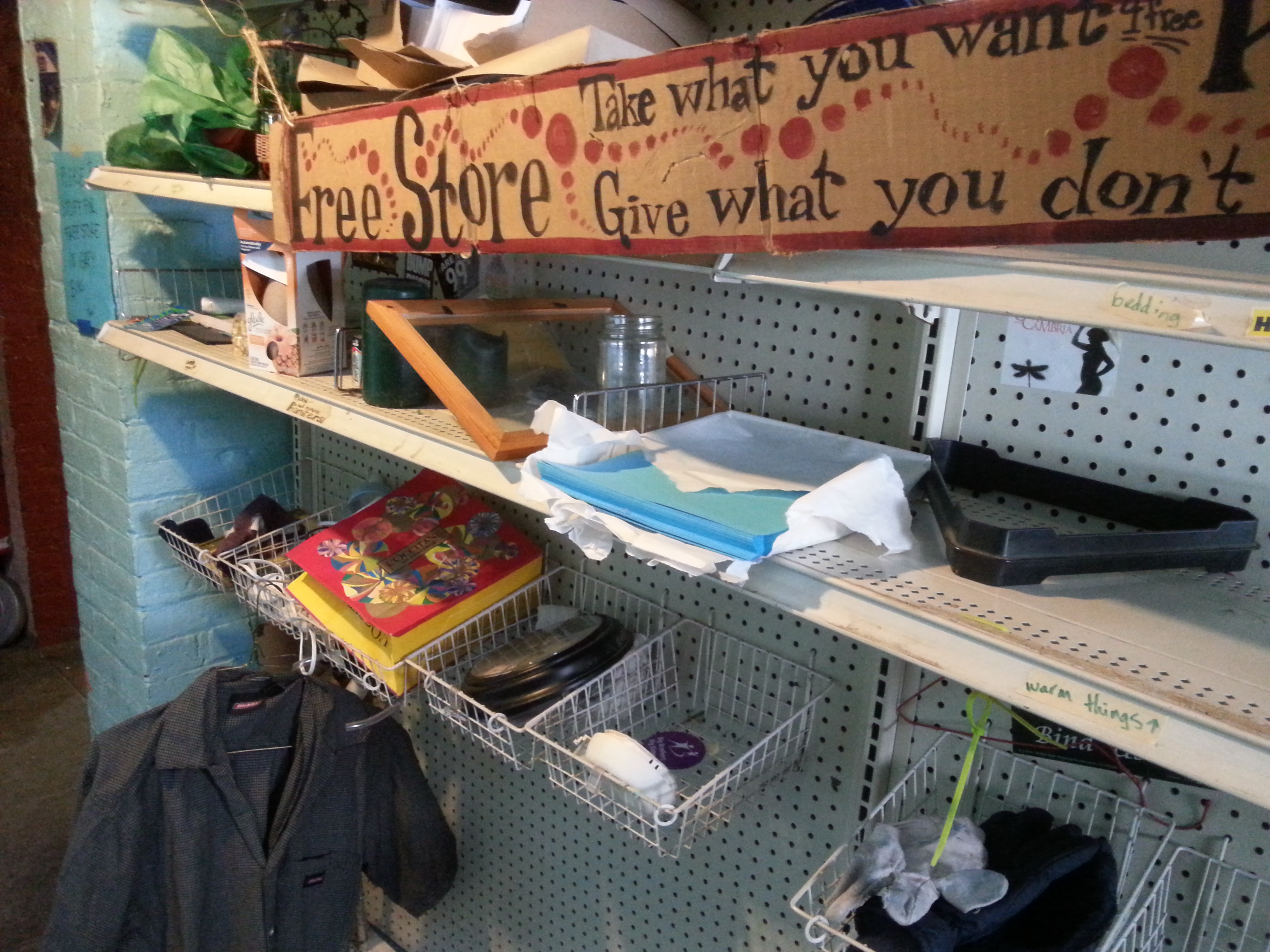 The Freestore at Ol'Wondermoth is where you can take what you want and give what you don't!
